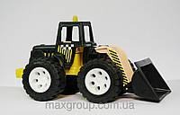 Детский трактор скрепер,в пакете,25х14х12см.