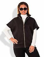 Пальто жилет женское кашемировое батал 11698