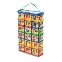 """Кубики строительные""""Абетка""""в пакете,36х18х6см."""
