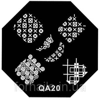 Пластины для стемпинга  QA-20