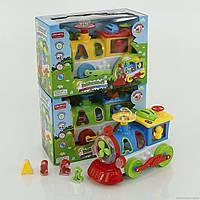 Детский паровоз-сортер для детей  8688I,логика,муз.,свет,в коробке,25х18х14см.