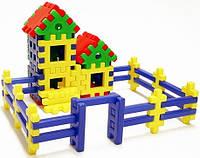 """Детский конструктор""""Дом,который построил Джек""""53 дет.,44х32х14см."""