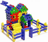 "Детский конструктор""Кошкин дом""67 дет.,44х32х14см."