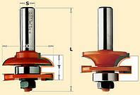 Фрезы СМТ для фасадов мебели Profile C D44,4-T18-22-R6-L71-d12