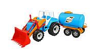 """Детский игрушечный трактор""""Тигр""""молоковоз,65х21х18см."""