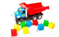 "Детский грузовик""Фарго""с кубиками для мальчика,52х25х20см."