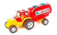 "Трактор для мальчика""Бамсик""бочка,54х18х25см."