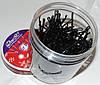 Невидимки для волос черные (дуга), 7 см, 200 шт