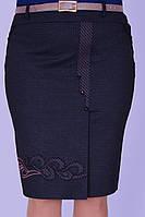 Женская серая юбка с вышивкой , фото 1