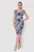 Льняное, легкое женское платье больших размеров прилегающего силуэта 15002, фото 1