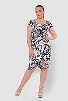 Льняное, легкое женское платье больших размеров прилегающего силуэта 15002/1