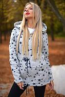 Куртка женская трикотажная с капюшоном P3652