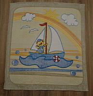 """Детский махровый плед-одеяло """"Мишка"""" для малышей (бежевый)"""
