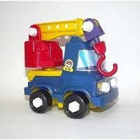 "Машина конструктор для детей""Кузя""кран,14х13х11см."