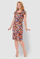 Льняное, легкое женское платье больших размеров прилегающего силуэта 15002/2