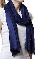 Палантин с узором темно-синий (83005)