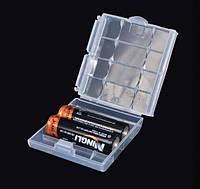 Бокс футляр чехол кейс для батареек АА-ААА-14500 и аккумуляторов (прозрачный) SKU0000245