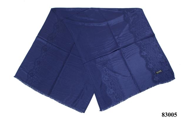 Палантин с узором темно-синий (83005) 2