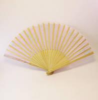 Веер деревянный/ткань-20,5 см.