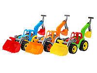 """Трактор""""Технок""""ковш+экскаватор для мальчика 36х20х16см."""