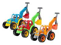 """Трактор игрушка для мальчика""""Технок""""экскаватор,в сетке,32х22х16см."""
