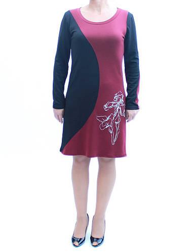Комбинированное платье с вырезом Ирисы