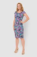 Льняное, легкое женское платье больших размеров прилегающего силуэта 15002/3, фото 1
