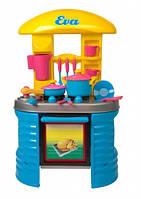 Детская кухня ЕВА с посудой,в коробке,78х47х28см.
