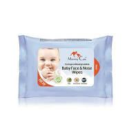 Влажные органические назальные салфетки для младенцев с морской солью, алоэ и ромашкой (24 шт)