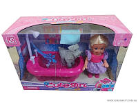 Кукла №899-16,с ванной,в коробке,22х16х9см.