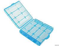 Бокс футляр чохол кейс для батарейок АА-ААА-14500 і акумуляторів (блакитний) SKU0000246, фото 1