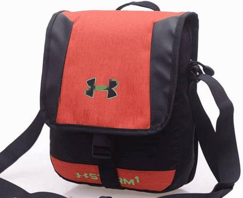 Стильная спортивная сумка мессенджер через плечо Under Armour Storm1 165, оранжевый
