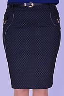 Женская серая юбка с декором
