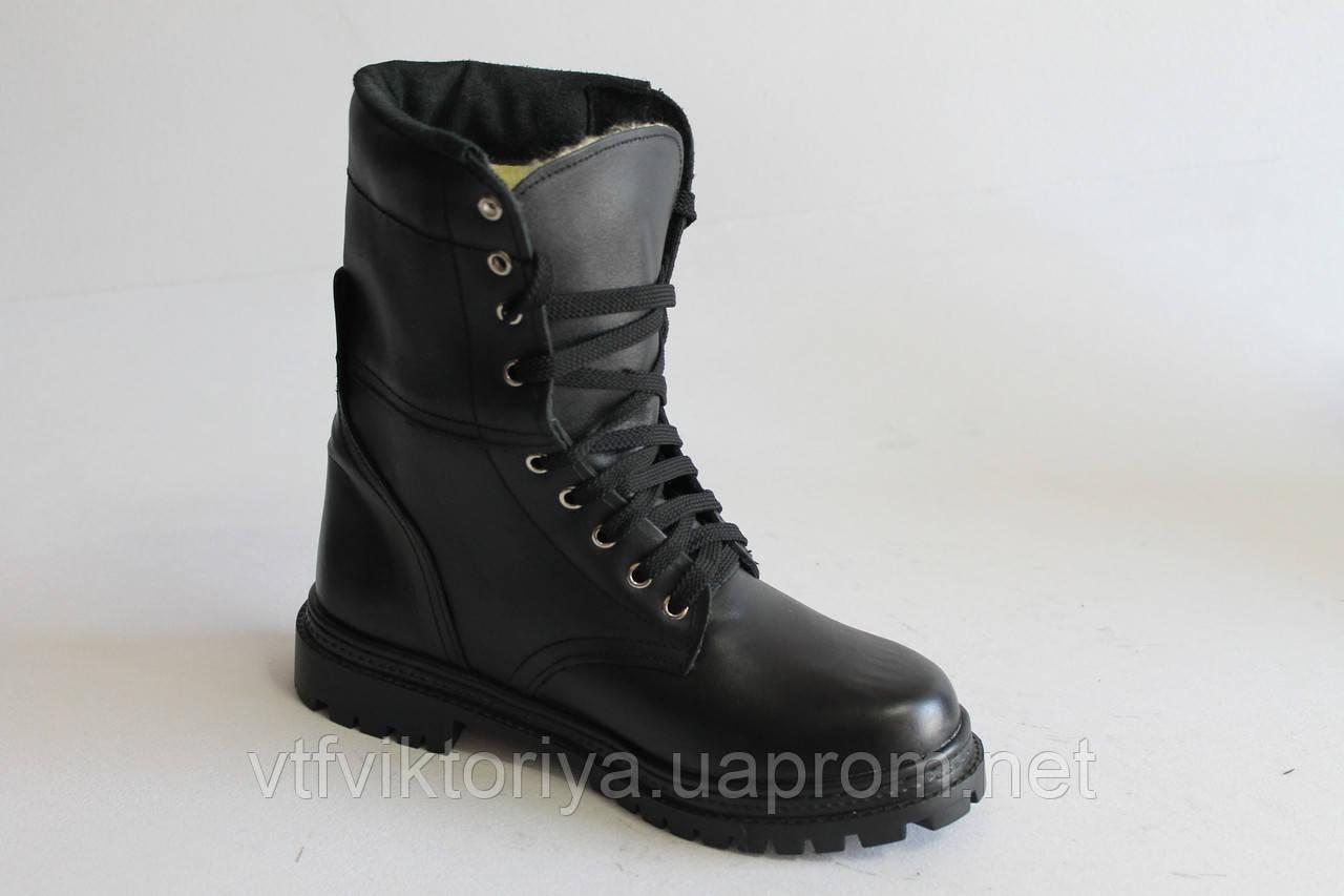 Ботинки ОМОН гладкая кожа зимние