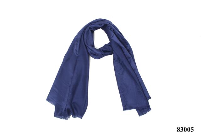 Палантин с узором темно-синий (83005) 3