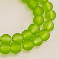 Бусины стекл.матовые, 6 мм, зеленый(140 шт) УТ000004899