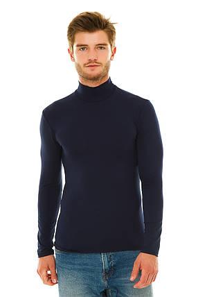 Водолазка мужская  Темно-синий, фото 2