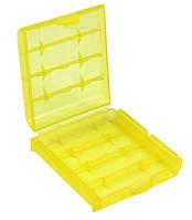 Бокс футляр чехол кейс для батареек АА-ААА-14500 и аккумуляторов (желтый) SKU0000249, фото 1