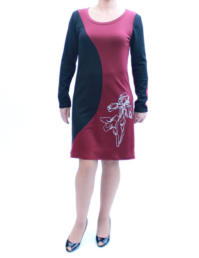 Платье с бордовыми вставками фото teens.ua