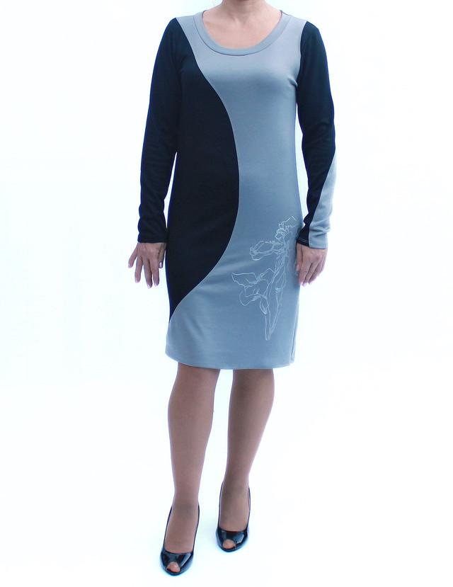 Платье со вставками серого цвета фото teens.ua