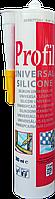 Герметик силиконовый универсальный PROFIL, прозрачный, 280 мл