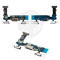 Шлейф для Samsung Galaxy S5 G900A, коннектора зарядки, с компонентами, оригинал