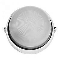 Світильник ІЕК НПП 2602А білий круглий без решіткою пласт. 60Вт ІР 54