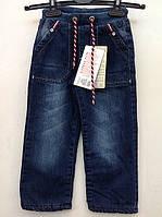 Джинсы для мальчиков 98,104,110 роста утепленные на трикотажной резинке
