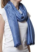 Купить палантин с узором голубой (83007)