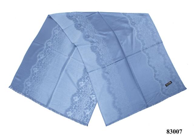 Палантин с узором голубой (83007) 2