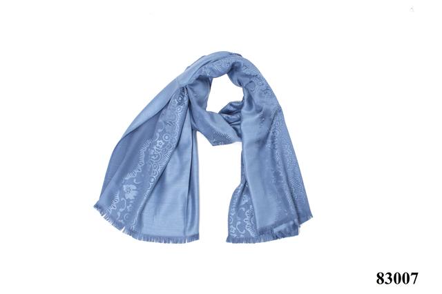 Палантин с узором голубой (83007) 3