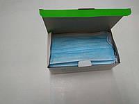 Маска медицинская 3-х слойная лицевая, на резинке нестерильная /21 VIKT