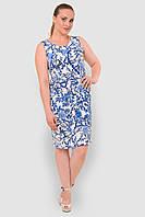 Льняное, легкое женское платье больших размеров прилегающего силуэта 15001/3