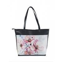 """Женская сумка-шоппер """"Розовые цветы"""""""